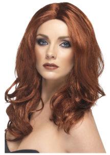 perruque rousse, perruque auburn, perruque extra longue femme, perruque femme rousse, Perruque Superstar, Rousse