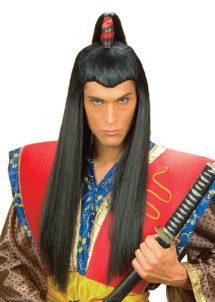 perruque homme, perruque noire, perruque de samouraï, perruque asiatique, perruque de japonais, Perruque de Samouraï, Noire