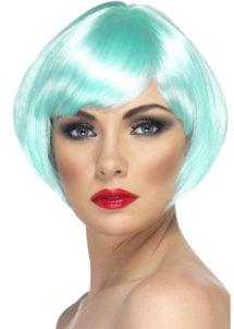 perruque bleue, perruque femme bleue, perruque femme courte, Perruque Babe, Bleue, Turquoise