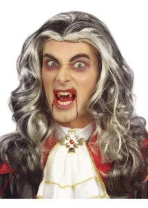 perruque homme, perruque grise, perruque de vampire, perruque dracula, Perruque Vampire, Grise