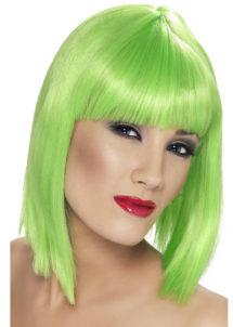 perruque verte femme, perruque carré vert pour femme, perruques paris, perruque femme, Perruque Glam, Verte