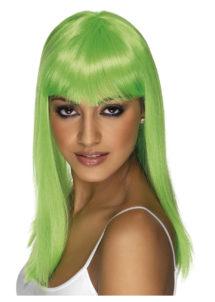 perruque verte, perruque cheveux longs, perruque saint patrick, perruque pas chère à paris, perruques femmes, perruques cheveux longs, Perruque Glamourama, Verte