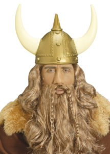 perruque de viking, perruque viking homme, perruque blonde homme, perruque avec barbe viking, Perruque de Viking, Blonde