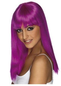 perruque violette, perruque carré violet, perruque coupe carré, perruque couleur femme, Perruque Glamourama, Violette