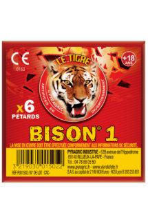 pétards, pétards et fumigènes, pyragric, acheter des pétards à paris, bisons, Pétards Bison 1, Le Tigre