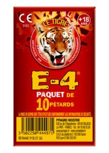 pétards, pétards et fumigènes, pyragric, acheter des pétards à paris, Pétards, Le Tigre E-4