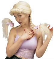perruque femme, perruque pas cher paris, perruque blonde, perruque bavaroise, perruque natte blonde, perruque oktoberfest, perruque aubergiste Perruque Helen, Tresses Blondes