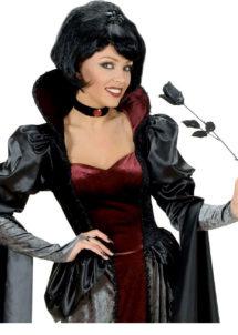 rose noire en tissu, accessoire halloween, accessoire déguisement halloween, rose noire halloween, rose maléfique accessoire, décoration halloween, Rose Noire en Tissu