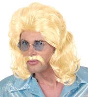 perruque mullet, perruque mulet, perruque homme, perruque disco, perruque années 80 homme Perruque 70's Man Disco, Blonde