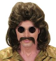 perruque mullet, perruque mulet, perruque homme, perruque disco, perruque années 80 homme, perruque châtain Perruque 70's Man Disco, Châtain