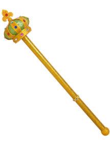 sceptre de roi déguisement, accessoire royal déguisement, accessoire reine déguisement, sceptre de reine, sceptre royal, accessoire soirée versailles, Sceptre Royal, Pommeau