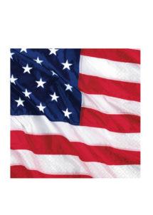 vaisselle jetable, serviettes en papier, serviettes bleues, vaisselle états unis, serviette drapeau américain, Vaisselle Etats Unis, Serviettes Drapeau Américain, GM