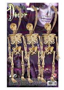 décos halloween, accessoire décoration halloween, décoration halloween, squelette halloween, suspension squelette halloween, décoration squelette halloween, suspension déco halloween, squelette halloween à suspendre, Squelette x 3, avec cordelette