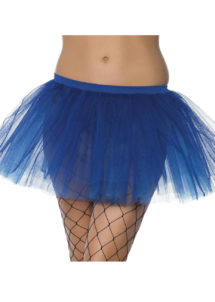 tutu pour femme, tutu noir, jupon noir, jupon femme, tutu femme déguisement, déguisement tutu, accessoire tutu déguisement, accessoire déguisement tutu bleu, Tutu Bleu, en Tulle et Résille