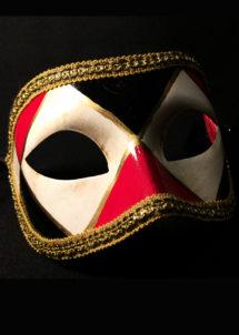 masque vénitien, loup vénitien, masque carnaval de venise, masque vénitien fait à la main, Vénitien, Civette Losanges Galon