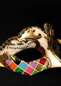 masque vénitien, loup vénitien, masque carnaval de venise, masque vénitien fait à la main, Vénitien, Civette Mini, Mosaïque Multicolore