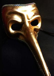 masque vénitien, loup vénitien, masque carnaval de venise, masque vénitien fait à la main, Vénitien, Naso Or