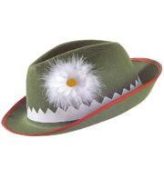 chapeau bavarois, chapeau oktoberfest, chapeau tyrolien Chapeau de Bavarois, Tyrolien, Vert