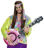 banjo gonflable, faux banjo, accessoire déguisement, faux instrument de musique, accessoire hippie déguisement, accessoire déguisement, fausse guitare, aux instrument de musique déguisement, accessoire déguisement hippie Banjo Gonflable, Rose