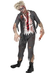 déguisement zombie écolier, déguisement zombie halloween, déguisement écolier zombie halloween, déguisement halloween homme, déguisement halloween adulte, costume halloween adulte, costume halloween homme Déguisement Ecolier Zombie