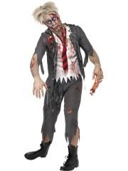 déguisement zombie écolier, déguisement zombie halloween, déguisement écolier zombie halloween, déguisement halloween homme, déguisement halloween adulte, costume halloween adulte, costume halloween homme Déguisement Ecolier Zombie