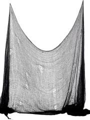 tissu noir déchiré Tissu Déchiré de Décoration, Noir