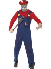 déguisement de mario zombie, déguisement halloween homme, déguisement halloween adulte, costume halloween adulte, costume halloween homme Déguisement Mario Zombie