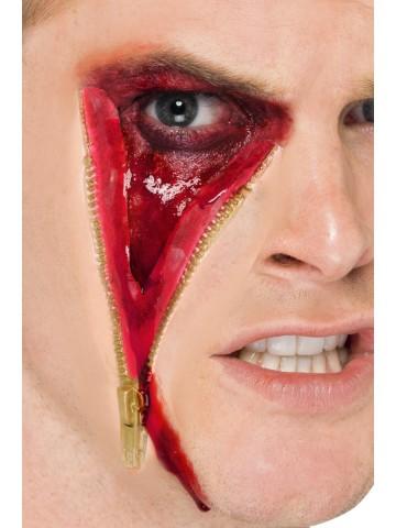 cicatrice fermeture éclair, blessure halloween, maquillage blessure halloween, maquillage halloween latex, fausses cicatrices halloween, maquillage halloween Blessure, Fermeture Eclair