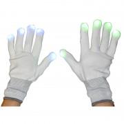gants leds fluos, accessoires fluos déguisement, accessoire soirée fluo, déguisement fluo, accessoire fluo clignotant Gants à Leds Clignotants, Fluos