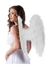 ailes de déguisement, ailes pour se déguiser, ailes d'anges, ailes d'ange, ailes en plumes, ailes blanches, Ailes d'Ange, Plumes Blanches, 65 cm