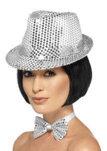 Chapeau Borsalino, chapeau Borsalino argent, chapeau paillettes, Chapeau Borsalino Paillettes Sequins, Argent