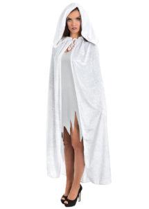 accessoire cape déguisement, déguisement cape halloween, cape blanche déguisement, cape déguisement femme, cape déguisement adulte, cape halloween, cape carnaval de venise, Cape Blanche, à Large Capuche, Velours