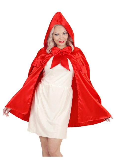 cape rouge chaperon rouge, cape rouge déguisement, cape petit chaperon rouge adulte, cape rouge adulte chaperon rouge, cape de déguisement, Cape Chaperon, avec Capuche Rouge et Noeud Satin