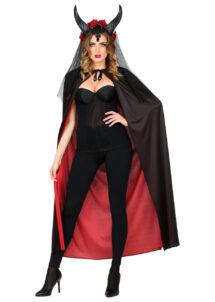 cape réversible halloween, cape noire et rouge, cape rouge et noire, cape de diable, Cape Noire et Rouge, Réversible