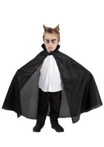 cape noir enfant, cape halloween enfant, cape pour enfant halloween, cape de vampire halloween, Cape Noire en Taffetas, Enfant