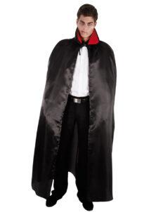 cape noire halloween, cape halloween adulte, cape satin noir déguisement, cape déguisement halloween, cape adulte halloween, cape noire adulte halloween, Cape Noire, Satin, avec Col Rouge
