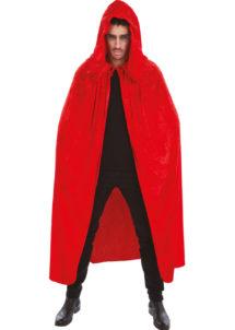 cape rouge halloween, cape halloween adulte, cape déguisement halloween, cape adulte halloween, cape rouge adulte halloween, cape de vampire rouge, cape de diable rouge, Cape Rouge à Large Capuche, Velours