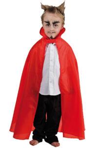 cape rouge enfant, cape halloween pour enfant, cape halloween diable, cape diable enfant, cape pas cher enfant, cape déguisement halloween, Cape Rouge en Taffetas, Enfant