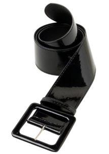 ceinture vinyle noir, ceinture disco, Ceinture Brillante, Noire
