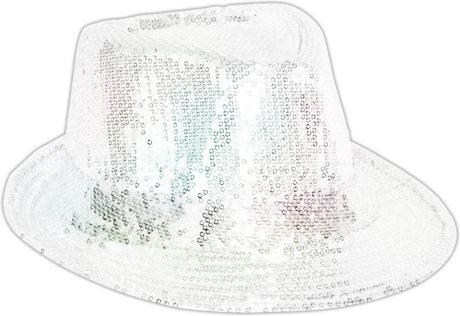 chapeaux borsalino, chapeaux paillettes, chapeau à sequins, accessoires chapeaux, chapeaux paris, chapeaux forme année 30 Chapeau Borsalino Paillettes Sequins, Blanc