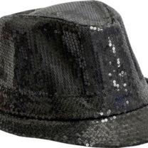 chapeaux borsalino, chapeaux paillettes, chapeau à sequins, chapeaux noirs, chapeaux paris, chapeaux forme année 30 Chapeau Borsalino Paillettes Sequins, Noir