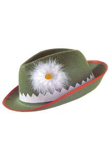 chapeau bavarois, chapeau oktoberfest, chapeau tyrolien, Chapeau de Bavarois, Tyrolien, Vert