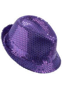 chapeau paillettes, chapeau Borsalino paillettes, chapeau violet, Chapeau Borsalino Paillettes Sequins, Violet