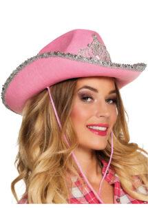 chapeau de cowboy, chapeaux de cowboy, chapeaux de cow boy, accessoires déguisements cowboys, Chapeau de Cowboy, Rose