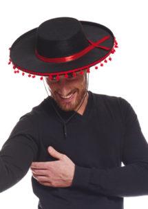 chapeau espagnol, chapeau de torero, accessoire déguisement espagnol, Chapeau Espagnol et Mexicain