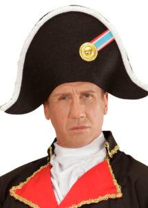 bicorne de napoléon, chapeau de napoléon, accessoires déguisement napoléon, bicorne révolution française, chapeau de bonaparte, Chapeau Bicorne de Napoléon, Ruban Tricolore