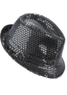 chapeau paillettes, chapeau Borsalino paillettes, chapeau noir, Chapeau Borsalino Paillettes Sequins, Noir