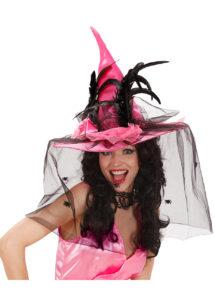 chapeau de sorcière, chapeaux halloween, chapeaux de sorcières, accessoires déguisement sorcière, Chapeau de Sorcière, Rose