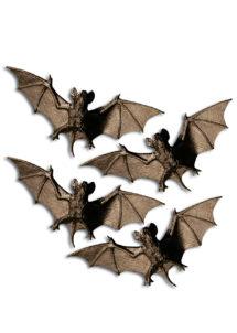 chauve souris halloween, chauve souris en plastique, accessoire décoration halloween, accessoire déco halloween, chauve souris halloween décoration, chauves souris halloween, fausses chauve souris décoration halloween, Chauve Souris x 4