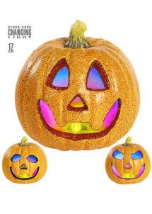 citrouille halloween, décoration halloween, décos citrouilles halloween, fausse citrouille halloween, citrouille lumineuse halloween, décor citrouilles halloween, citrouilles décorations halloween, Citrouille Lumineuse Clignotante, Noir, Orange ou Violet